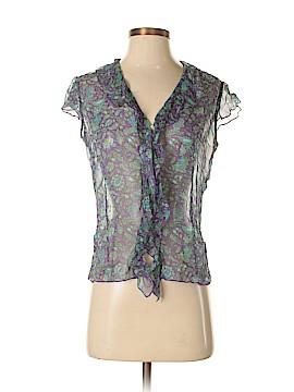 Karen Kane Short Sleeve Silk Top Size S
