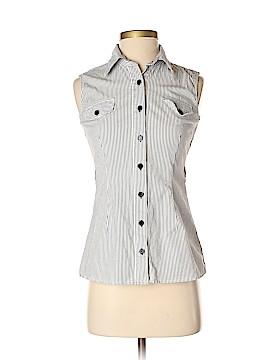Iz Byer Sleeveless Button-Down Shirt Size S