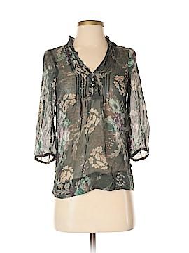Zara Basic 3/4 Sleeve Silk Top Size XS