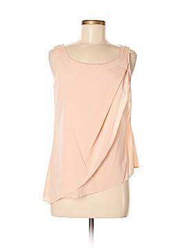 Black Saks Fifth Avenue Sleeveless Silk Top Size 6