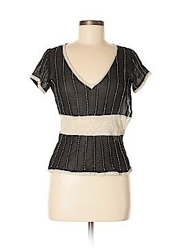 Max Studio Short Sleeve Silk Top Size 6
