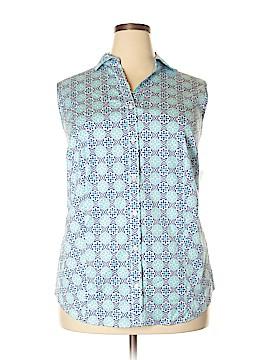 Charter Club Sleeveless Button-Down Shirt Size 24W (Plus)