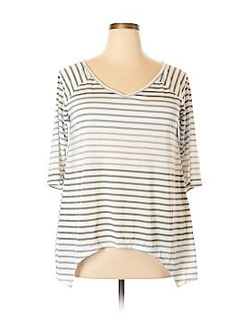 Bobbie Brooks 3/4 Sleeve T-Shirt Size 1X (Plus)