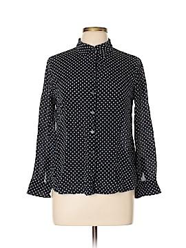 Uniqlo Long Sleeve Silk Top Size L
