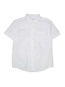 George Short Sleeve Button-Down Shirt Size 10 - 12 Husky (Husky)