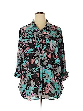 Boutique + Long Sleeve Blouse Size 1X (Plus)