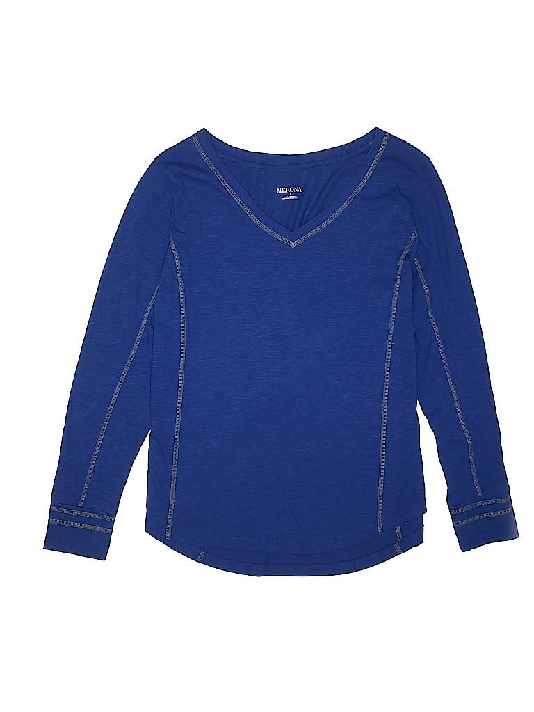 Merona Women Long Sleeve T-Shirt Size 1