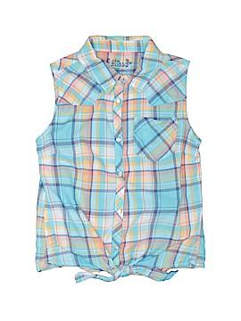 Mudd Sleeveless Button-Down Shirt Size 12