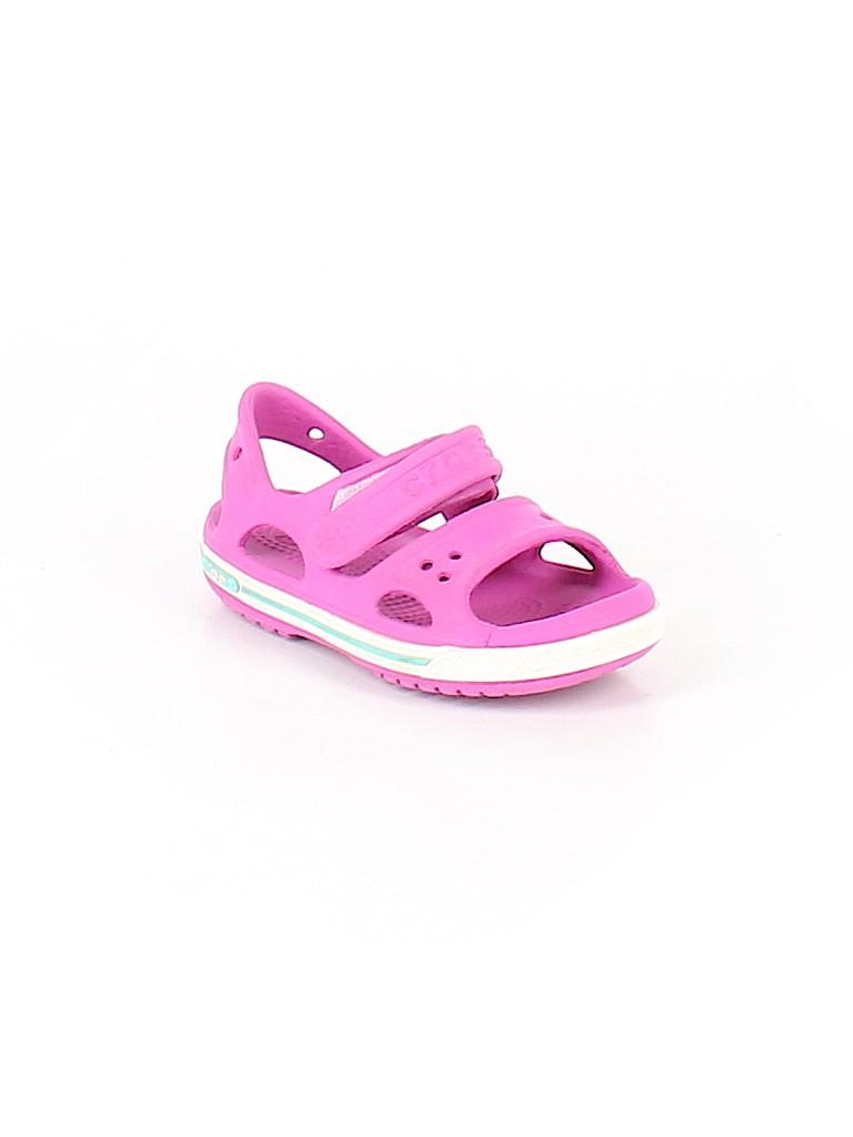 f4e6ddede8c6 Crocs Solid Purple Sandals Size 7 - 40% off
