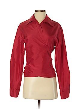 Chetta B Long Sleeve Silk Top Size 10