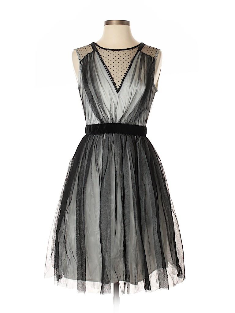 Altar\'d State 100% Polyester Polka Dots Black Cocktail Dress Size S ...