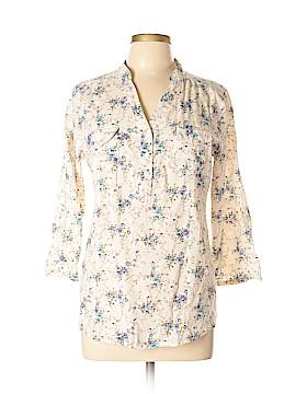Eden & Olivia 3/4 Sleeve Button-Down Shirt Size L