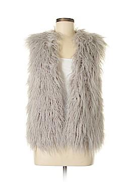 Mink Pink Faux Fur Vest Size XS