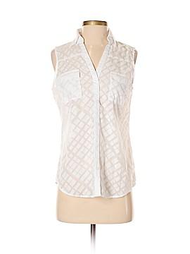 New York & Company Sleeveless Button-Down Shirt Size S