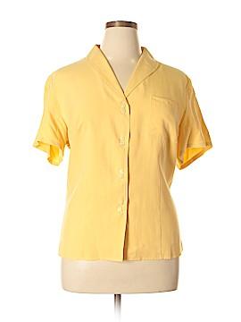 Orvis Short Sleeve Silk Top Size XL