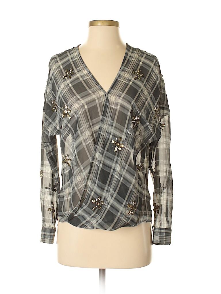 J.O.A. Los Angeles Women Long Sleeve Blouse Size XS
