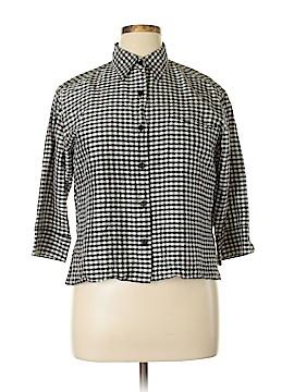 Linda Allard Ellen Tracy 3/4 Sleeve Silk Top Size 12