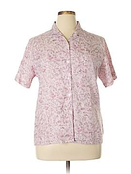 L.L.Bean Short Sleeve Button-Down Shirt Size L