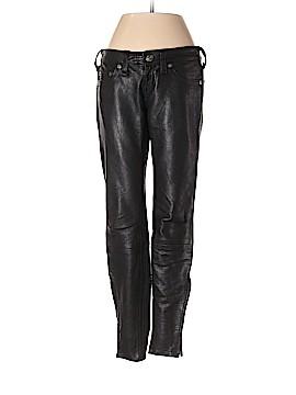 True Religion Faux Leather Pants 26 Waist