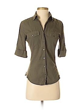 James Perse Short Sleeve Button-Down Shirt Size Sm (1)