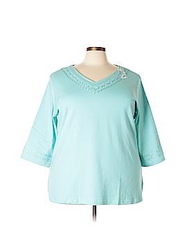 D&Co. 3/4 Sleeve Top Size 2X (Plus)