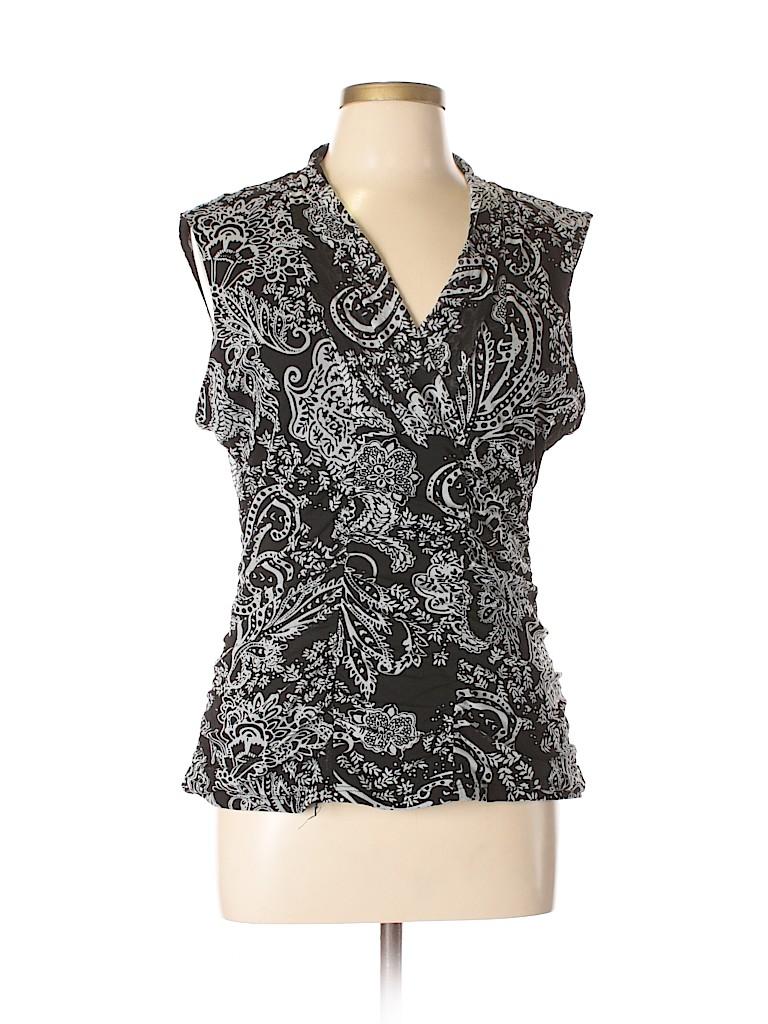 Style&Co Women Short Sleeve Top Size XL