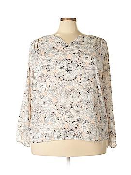 Violet & Claire Long Sleeve Blouse Size 2X (Plus)