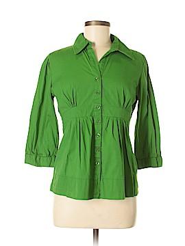 Antilia Femme 3/4 Sleeve Button-Down Shirt Size L