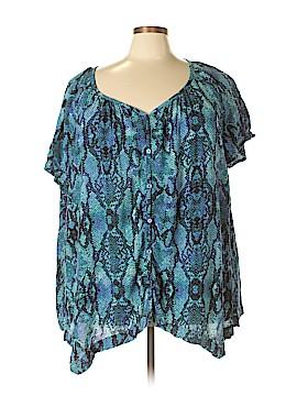 Jaclyn Smith Short Sleeve Blouse Size 3X (Plus)