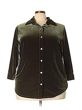 Karen Kane 3/4 Sleeve Button-Down Shirt Size 2X (Plus)