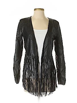 Olivaceous Faux Leather Jacket Size M