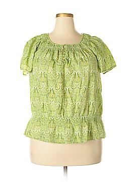 IZOD Short Sleeve Blouse Size 1X (Plus)