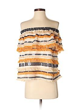 Waverly Grey Short Sleeve Blouse Size S