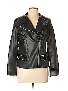 Blue Rain Faux Leather Jacket Size L