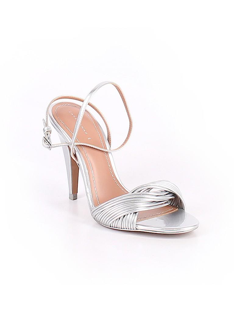 faf50f638fe Zara Metallic Silver Heels Size 40 (EU) - 55% off