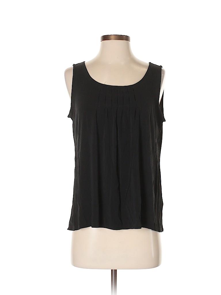 090f765c76f Eileen Fisher 100% Silk Black Sleeveless Silk Top Size S - 82% off ...