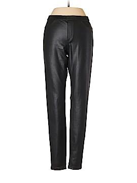 Hue Faux Leather Pants Size M