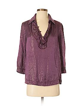 Ella Moss 3/4 Sleeve Silk Top Size S