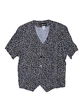 Sag Harbor Short Sleeve Button-Down Shirt Size L