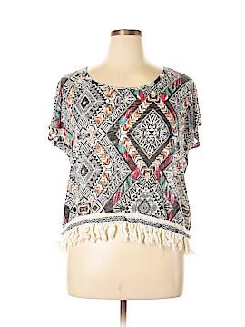 Cato Short Sleeve Blouse Size XL