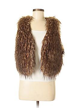 Rezrekshn by Esther Chen Faux Fur Vest Size M