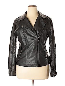 Max Studio Faux Leather Jacket Size XL