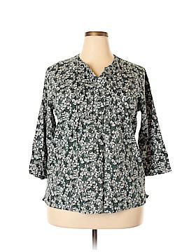 L.L.Bean 3/4 Sleeve Blouse Size XL