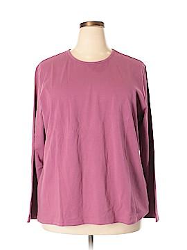 Denim & Co Long Sleeve T-Shirt Size 2X (Plus)