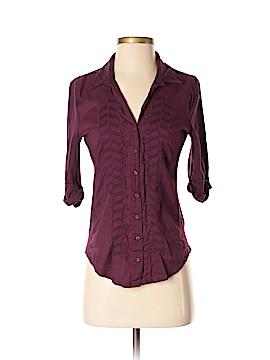 CALVIN KLEIN JEANS 3/4 Sleeve Button-Down Shirt Size S