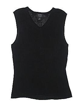 City Silk Sleeveless Silk Top Size L