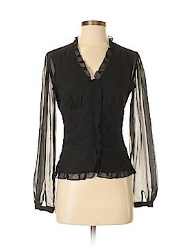 Antonio Melani Long Sleeve Silk Top Size XS