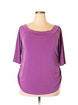 Bisou Bisou 3/4 Sleeve Top Size 1X (Plus)
