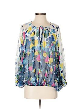 Diane von Furstenberg 3/4 Sleeve Silk Top Size P