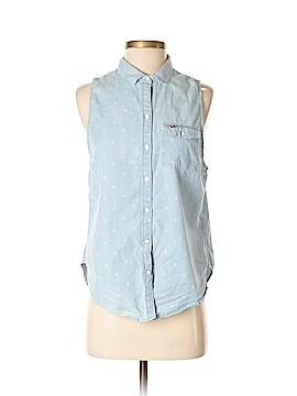 Hollister Sleeveless Button-Down Shirt Size S